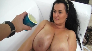 Tits fucking at castings in HD