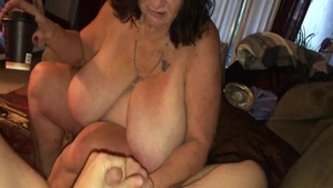 Raw sex together with young granny