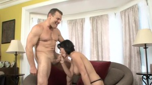 Crazy plowing hard in company with amazing MILF Roxanne Hall