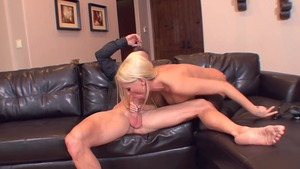 Diana Doll in sexy stockings sucking dick