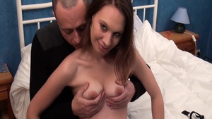Large boobs french rough cock sucking