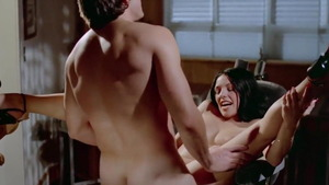 Nailing together with brunette Kay Parker next to Ron Jeremy